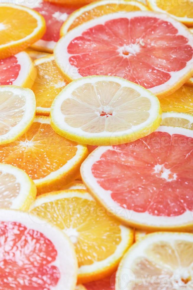 achtergrond met citrusvruchten van vers foto
