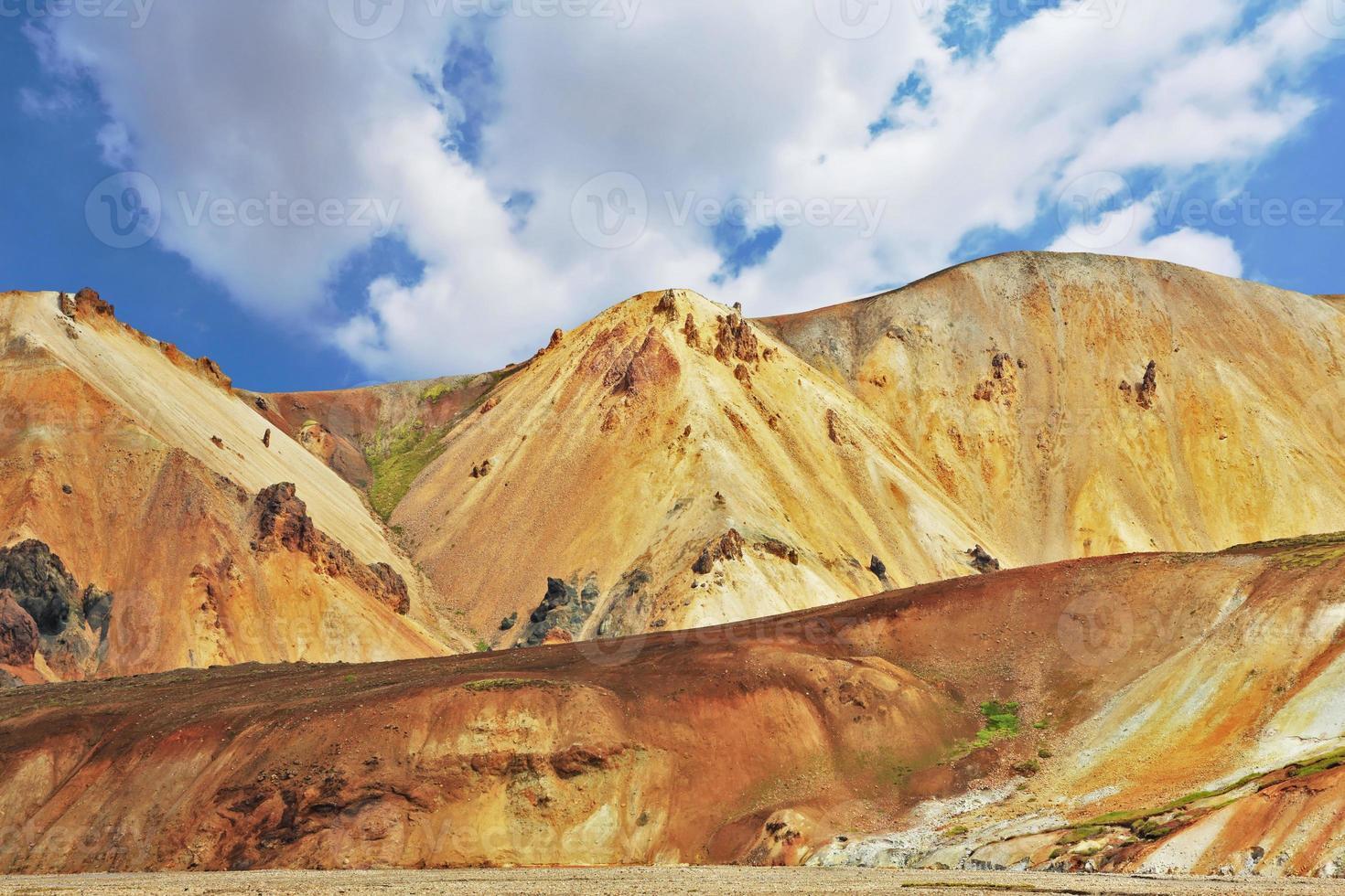 het nationale park landmannalaugar foto