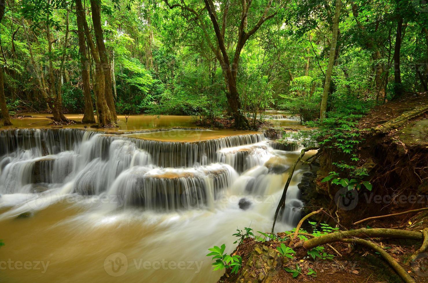 watervallen in regenwouden foto