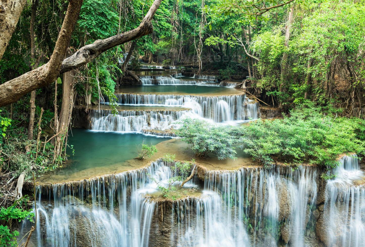waterval bij huay mae khamin foto