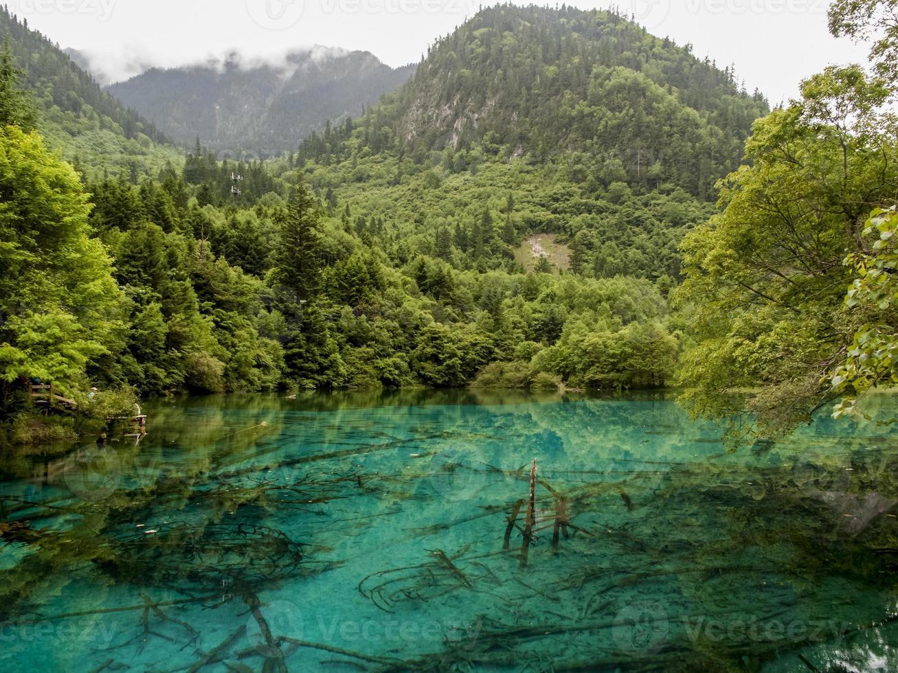 jiuzhaigou vallei nationaal park in china foto