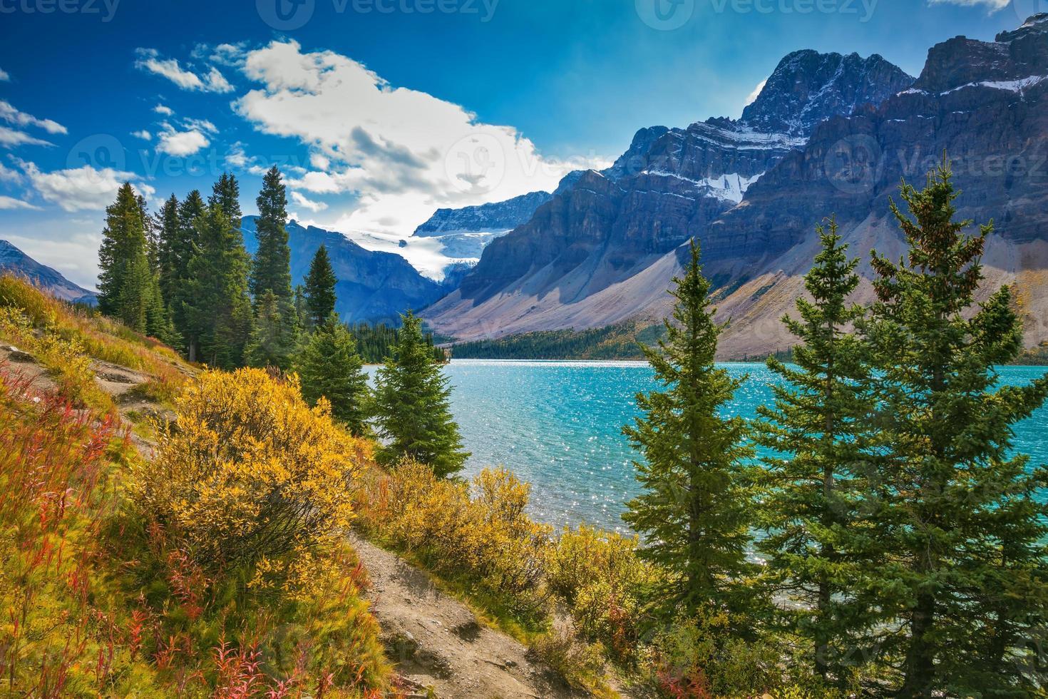 banff national park in de canadese rockies foto
