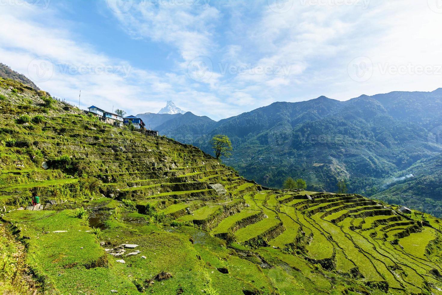 annapurna-gebergte, nepal foto
