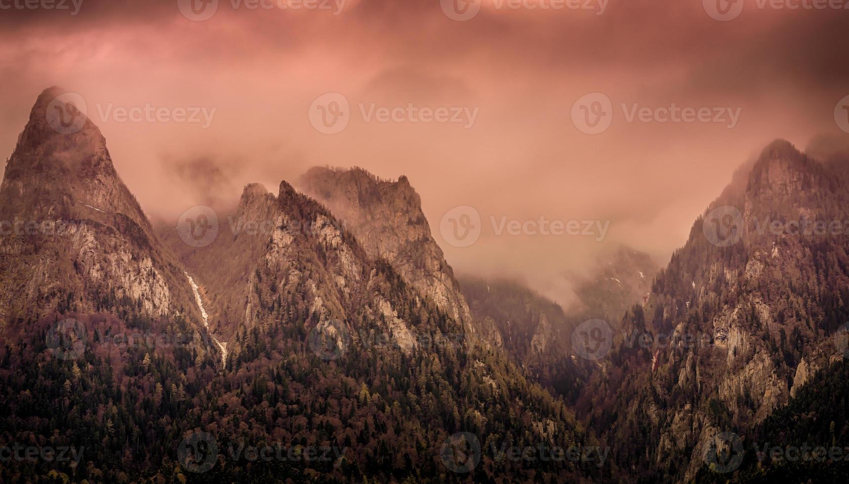 piekt in mist foto