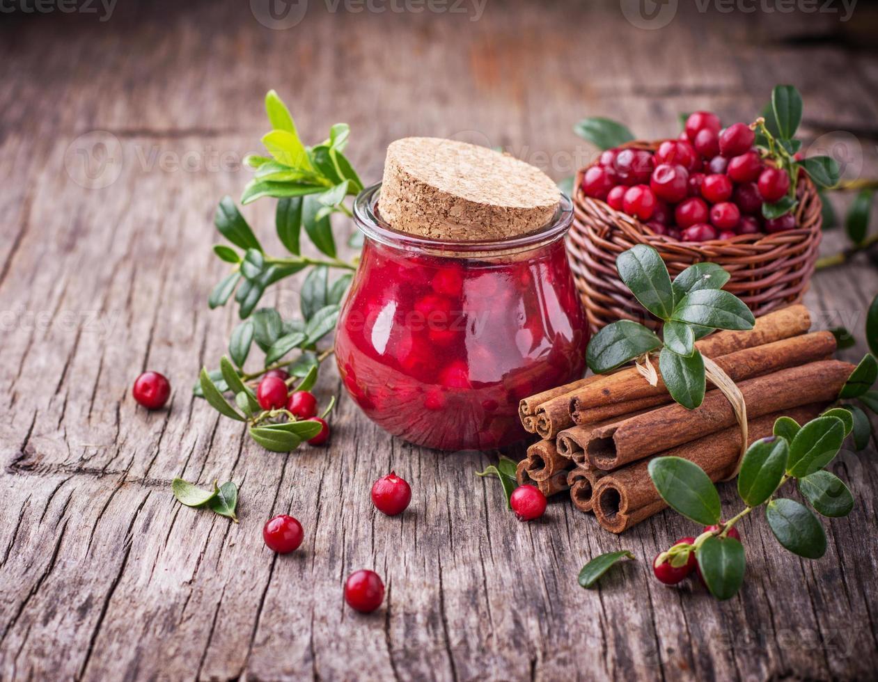 cranberry saus foto