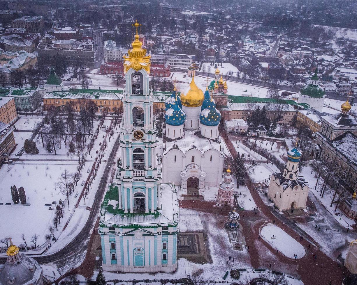 kathedraal tijdens de winter foto