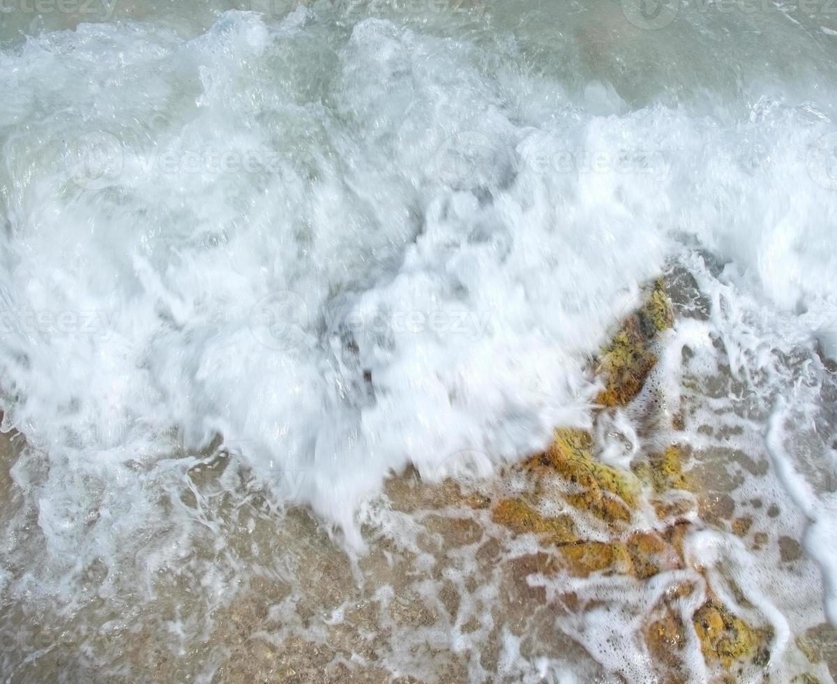 witte seafoam close-up foto