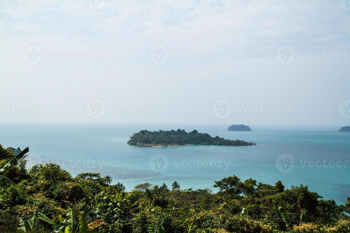 uitzichtpunt op Koh Chang, Thailand foto
