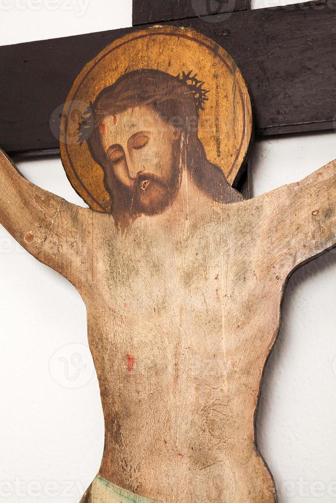 kruisigingsscène van Jezus foto