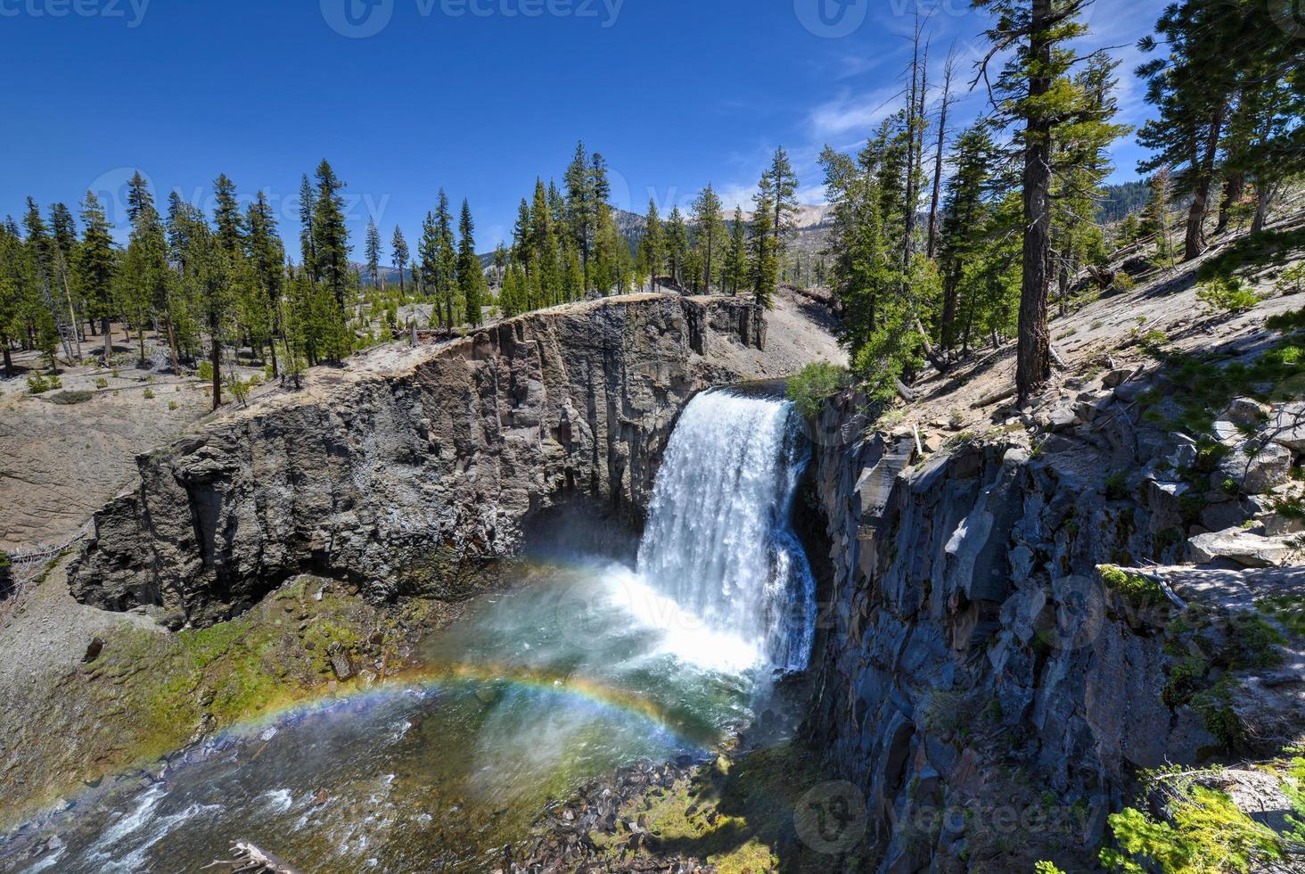 Rainbow Falls, het postpile nationale monument van de duivel foto