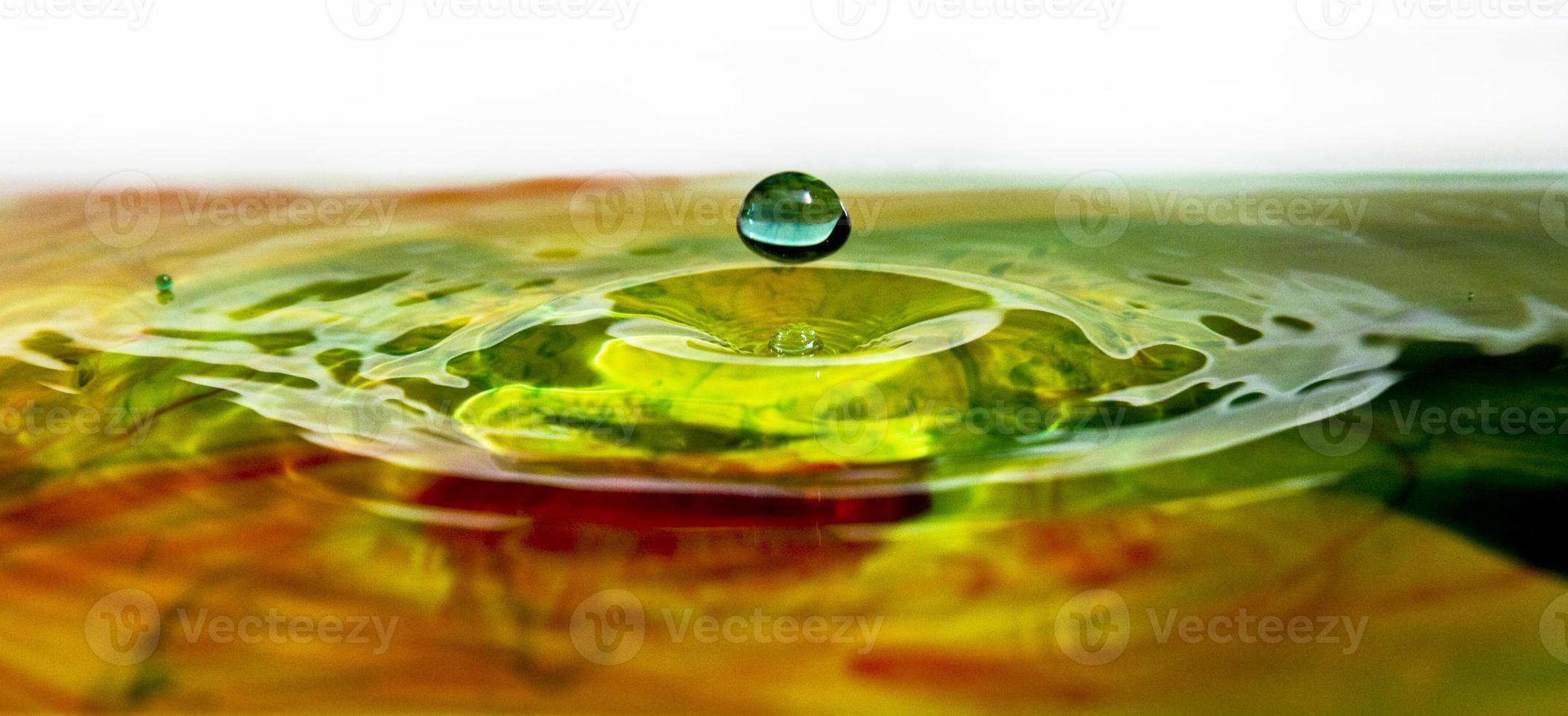 waterdruppel regenboog rimpel foto