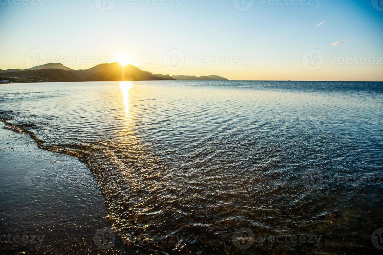 mystieke zonsopgang foto