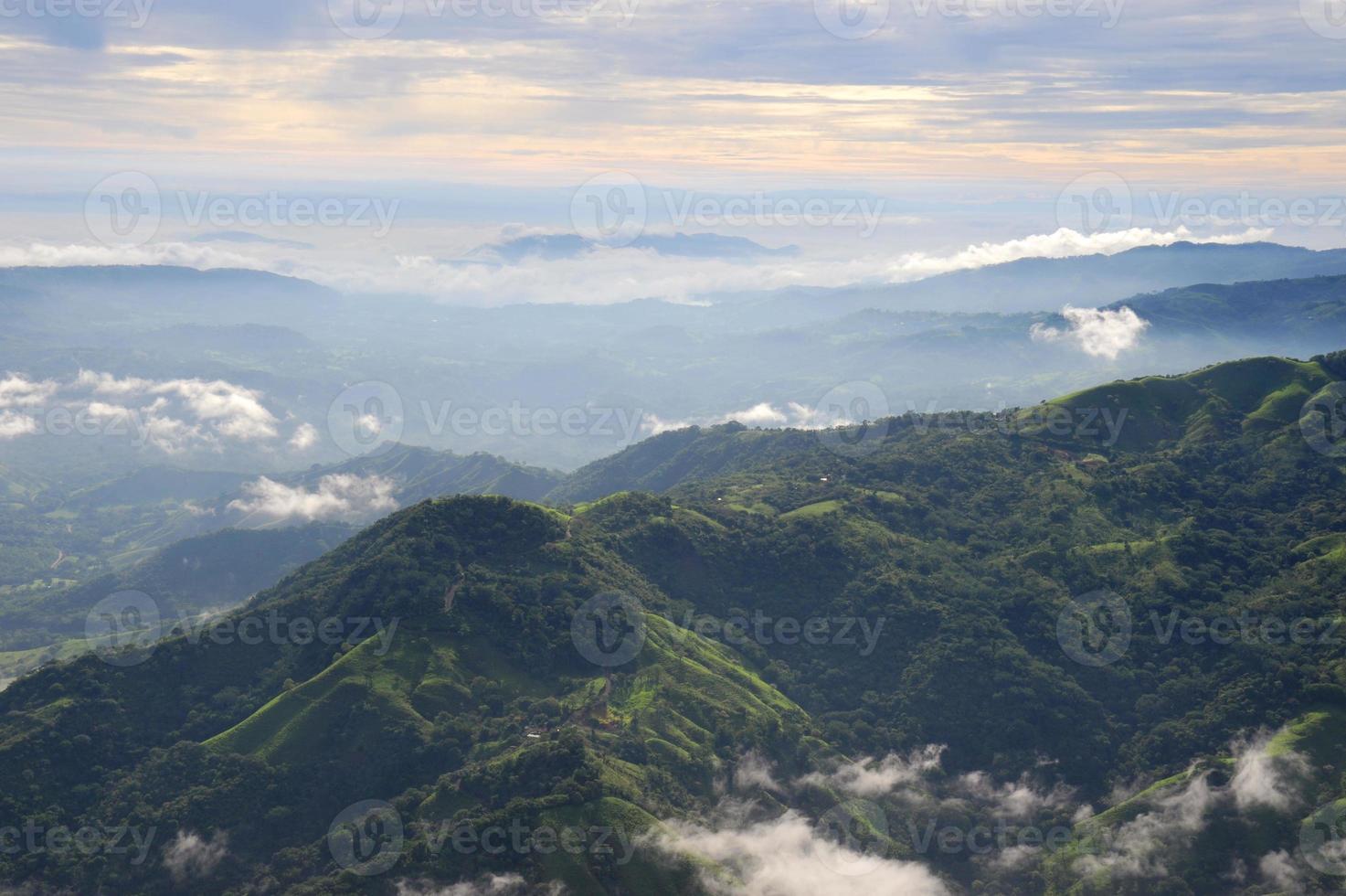 luchtfoto van westelijke costa rica foto