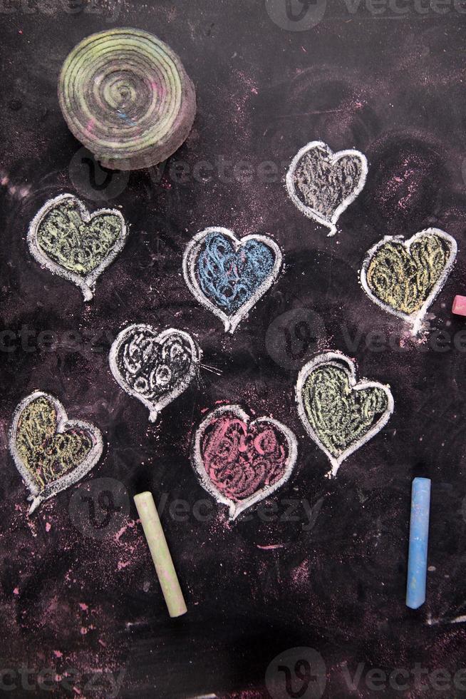 gekleurde harten foto