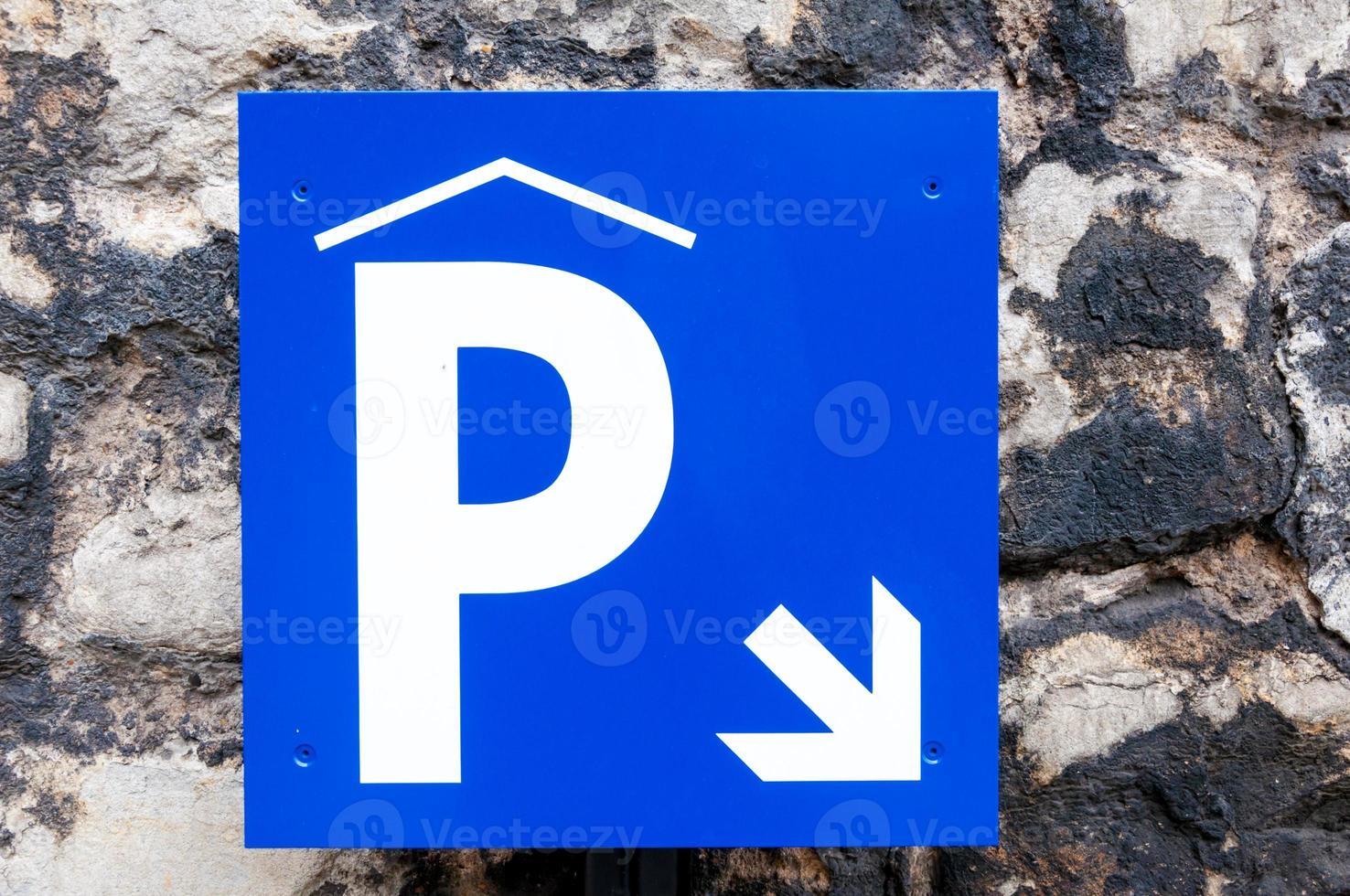 parkeren teken foto