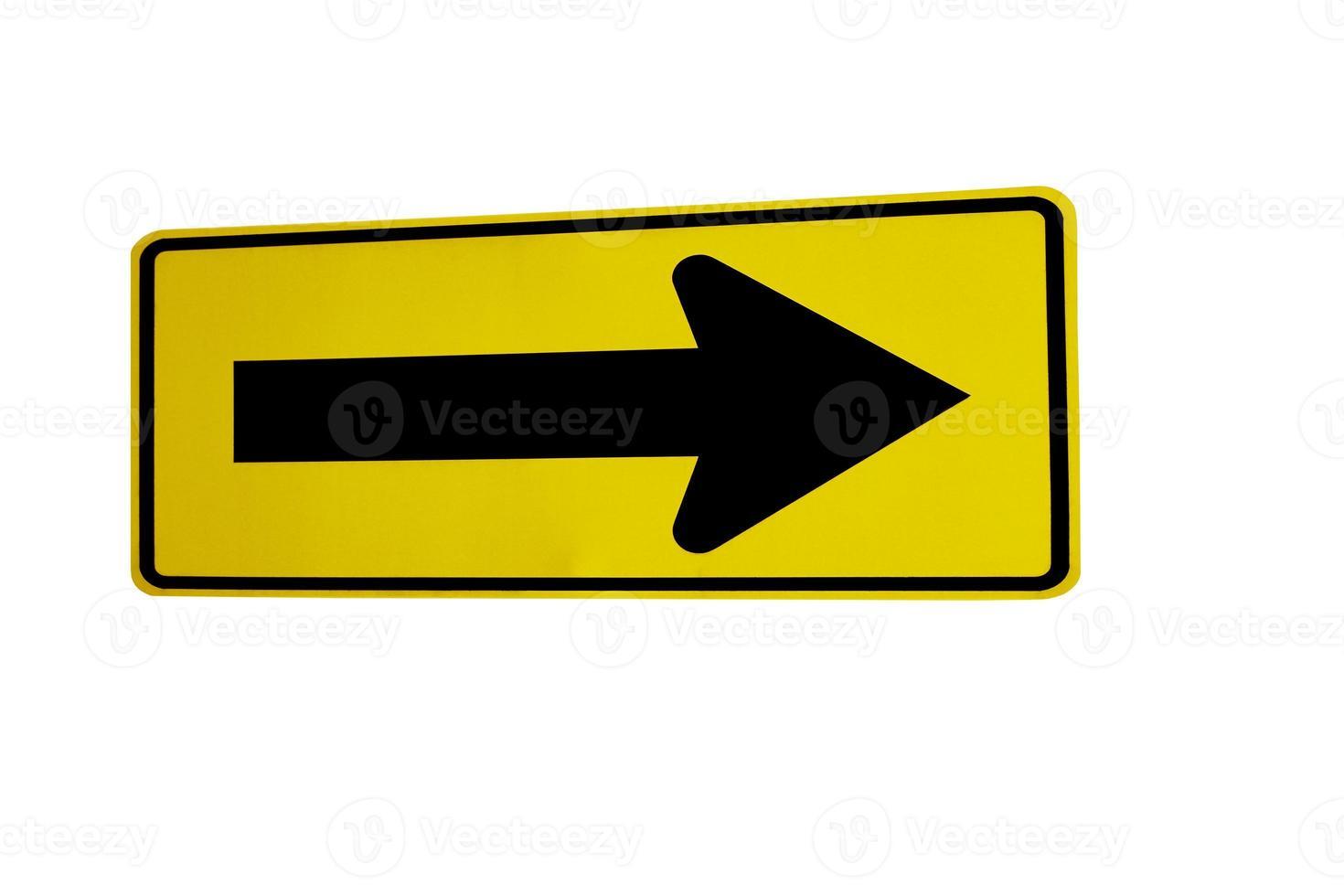 directionele verkeersbord foto