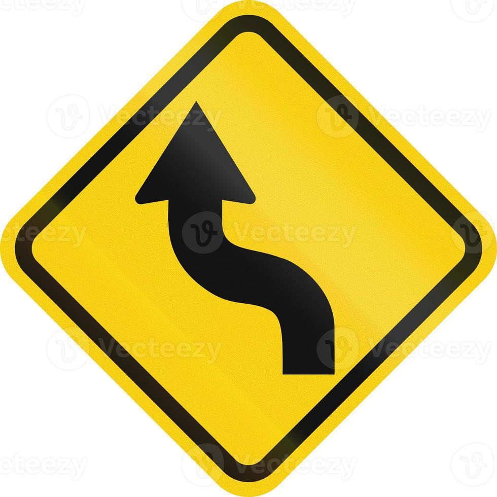 omgekeerde curve in colombia foto
