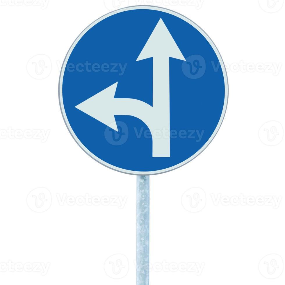 verplicht rechtdoor linksaf, rijbaan richting bord foto