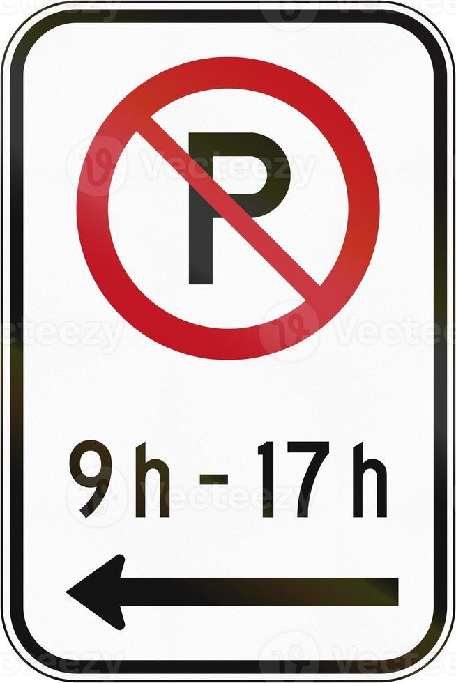 niet parkeren in bepaalde tijd in Canada foto