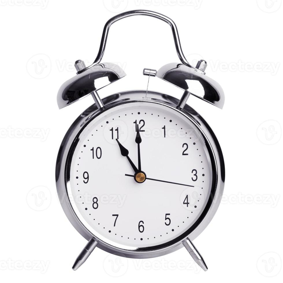 elf uur op een wekker foto