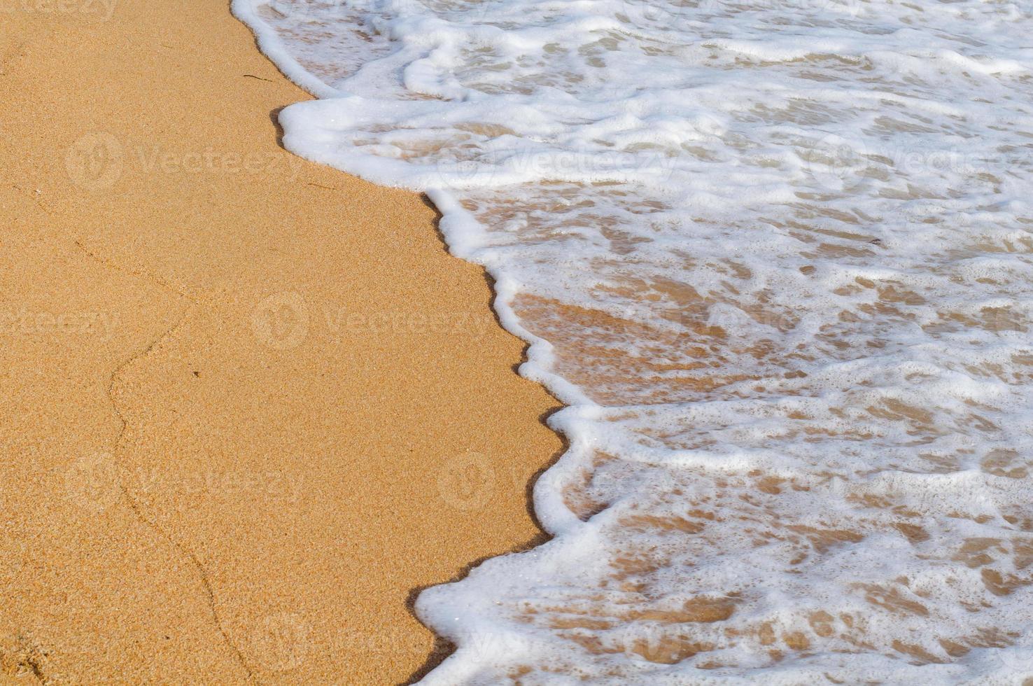 zachte golf van de zee foto