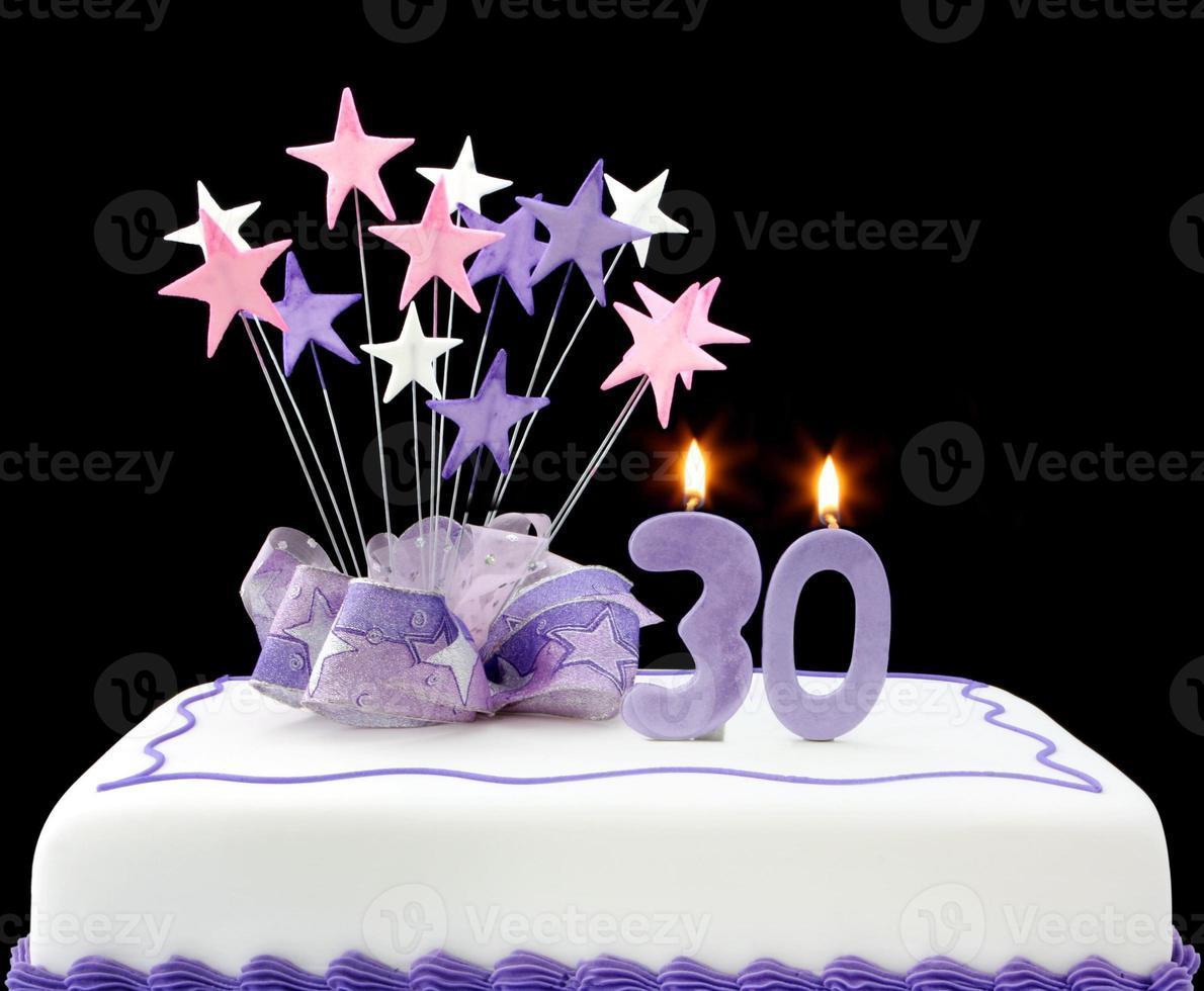 30e taart foto