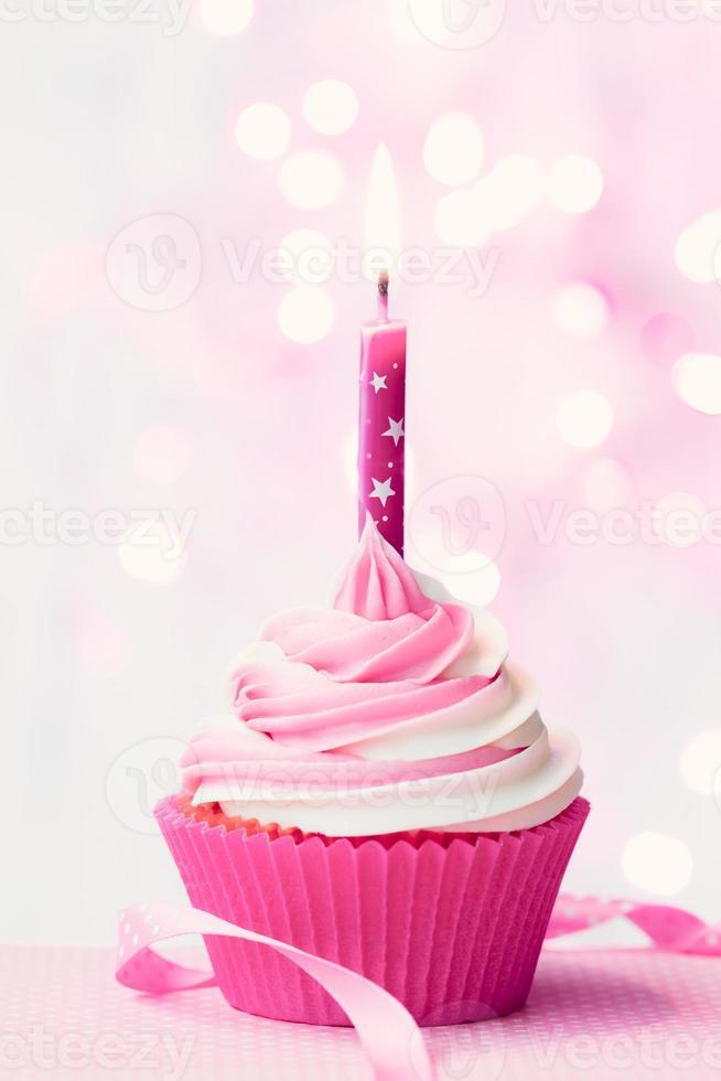 verjaardag cupcake foto