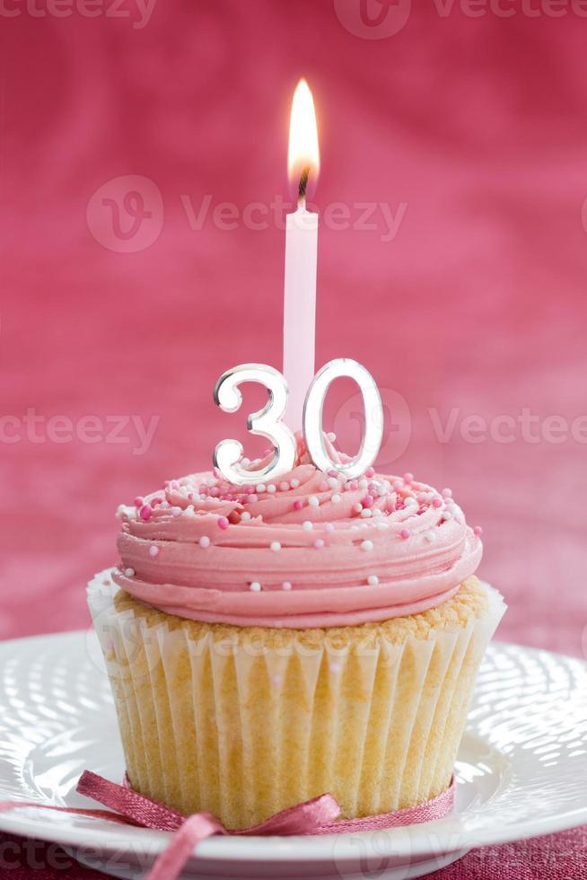 dertigste verjaardag cupcake foto