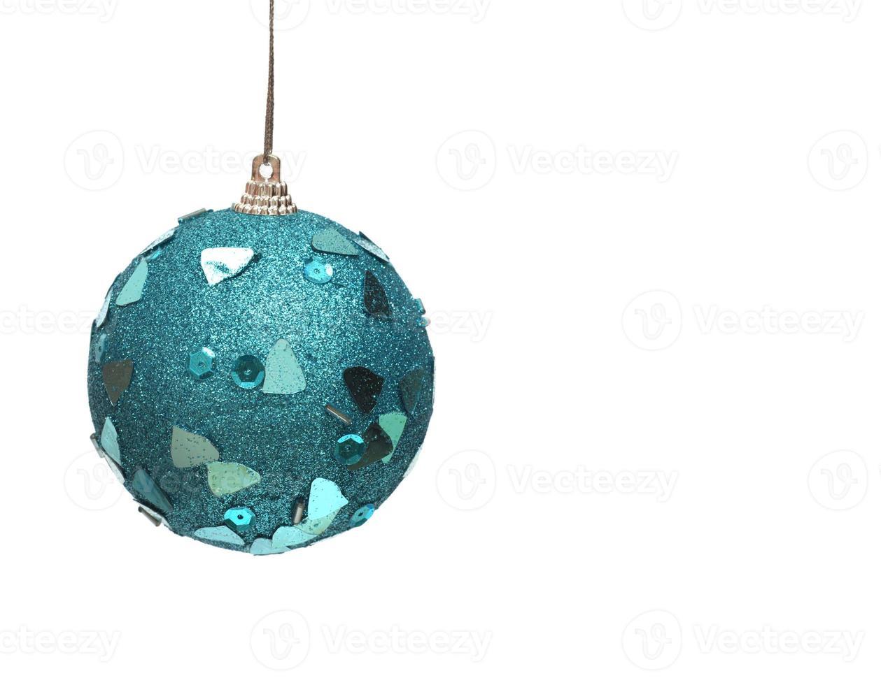 blauwe kerstbal foto