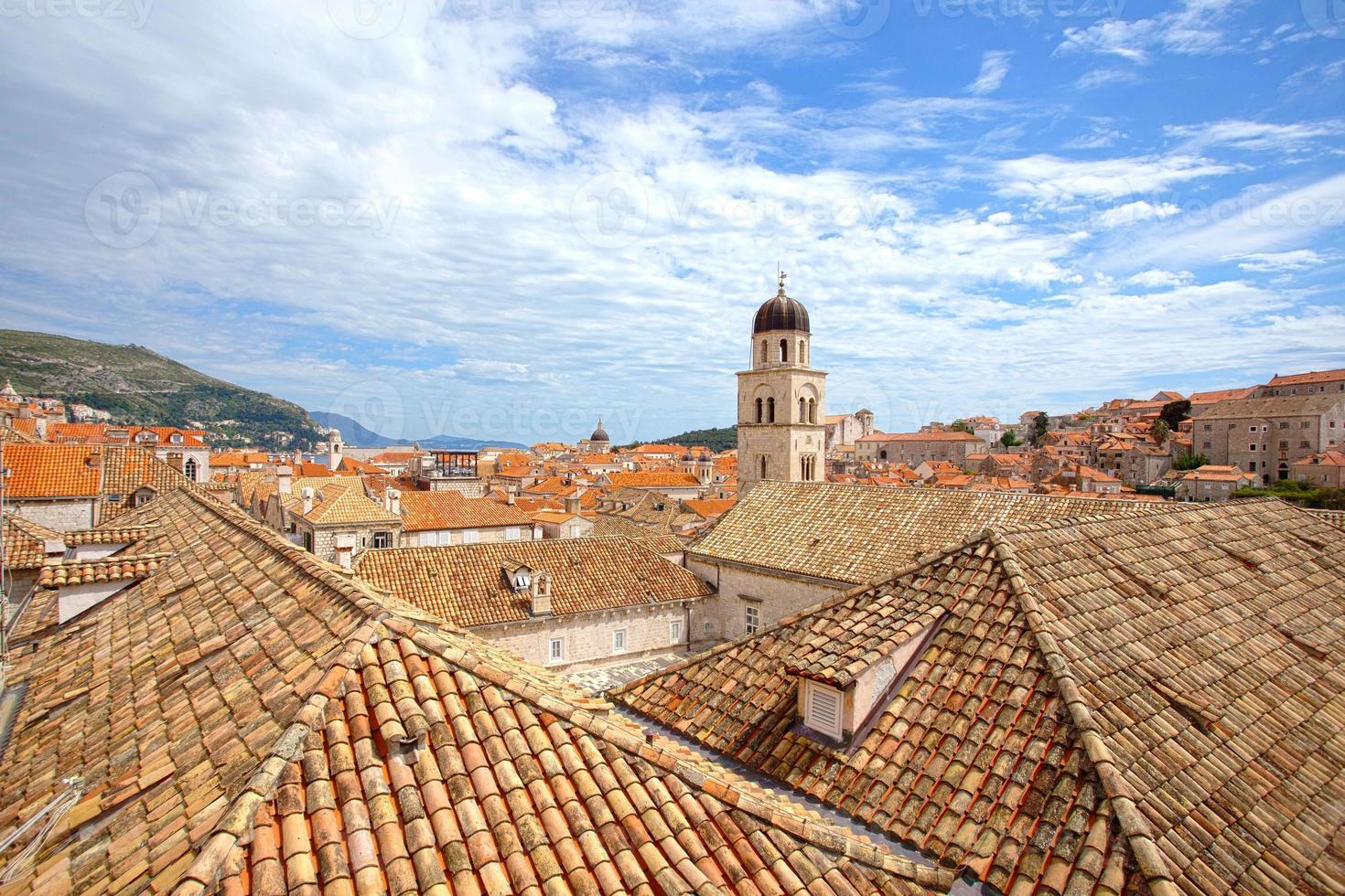 de daken van Dubrovnik foto