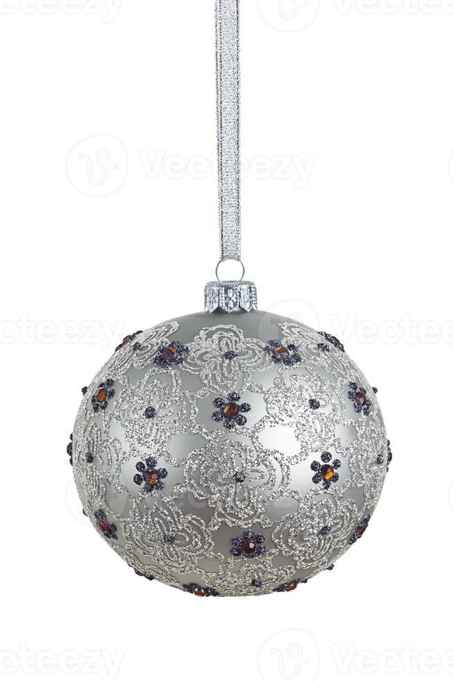 Kerstbal met uitknippad foto