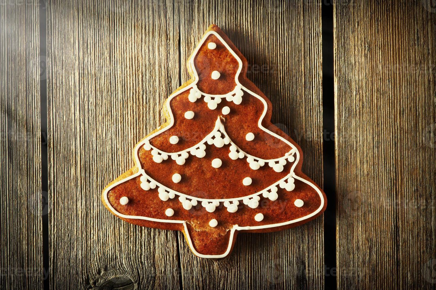 kerst zelfgemaakt peperkoekkoekje foto