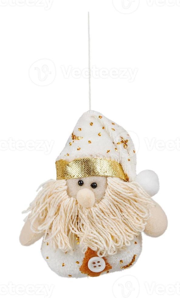 textiel kerst kerstman aan een touw foto
