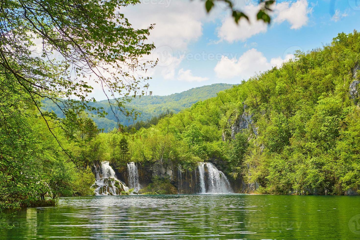 prachtige watervallen in nationaal park Plitvice foto