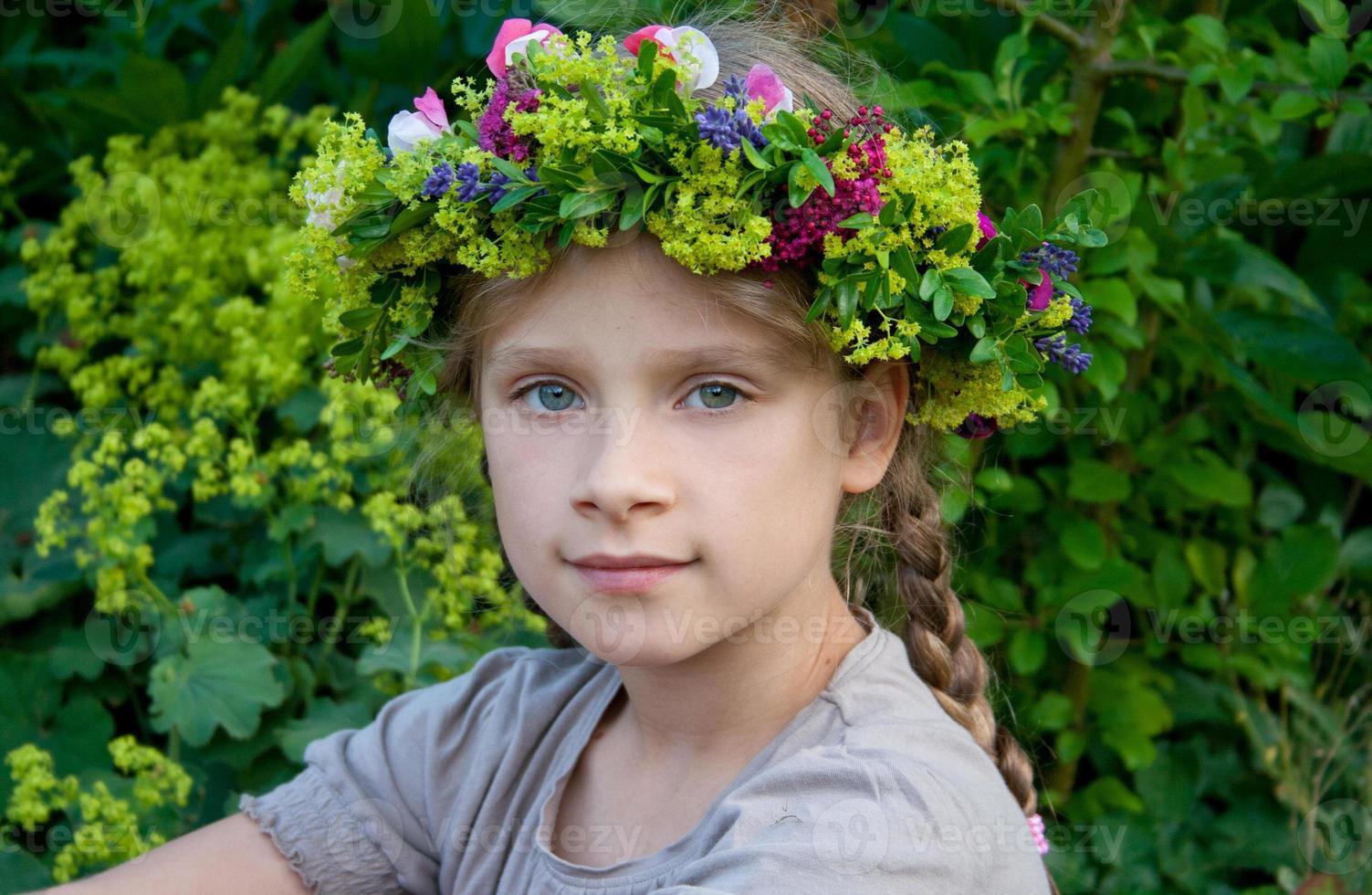 bloem krans foto