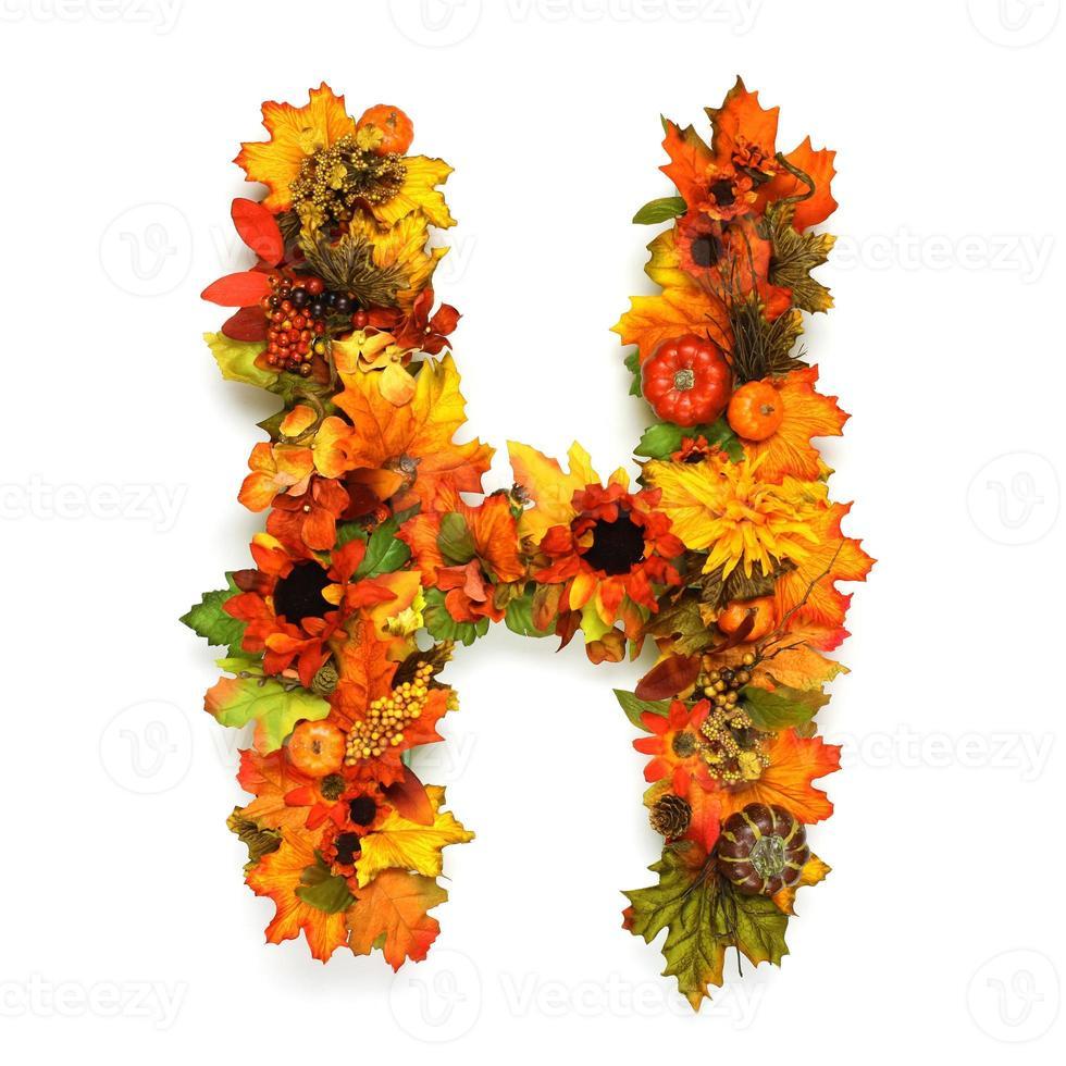 herfst alfabet foto