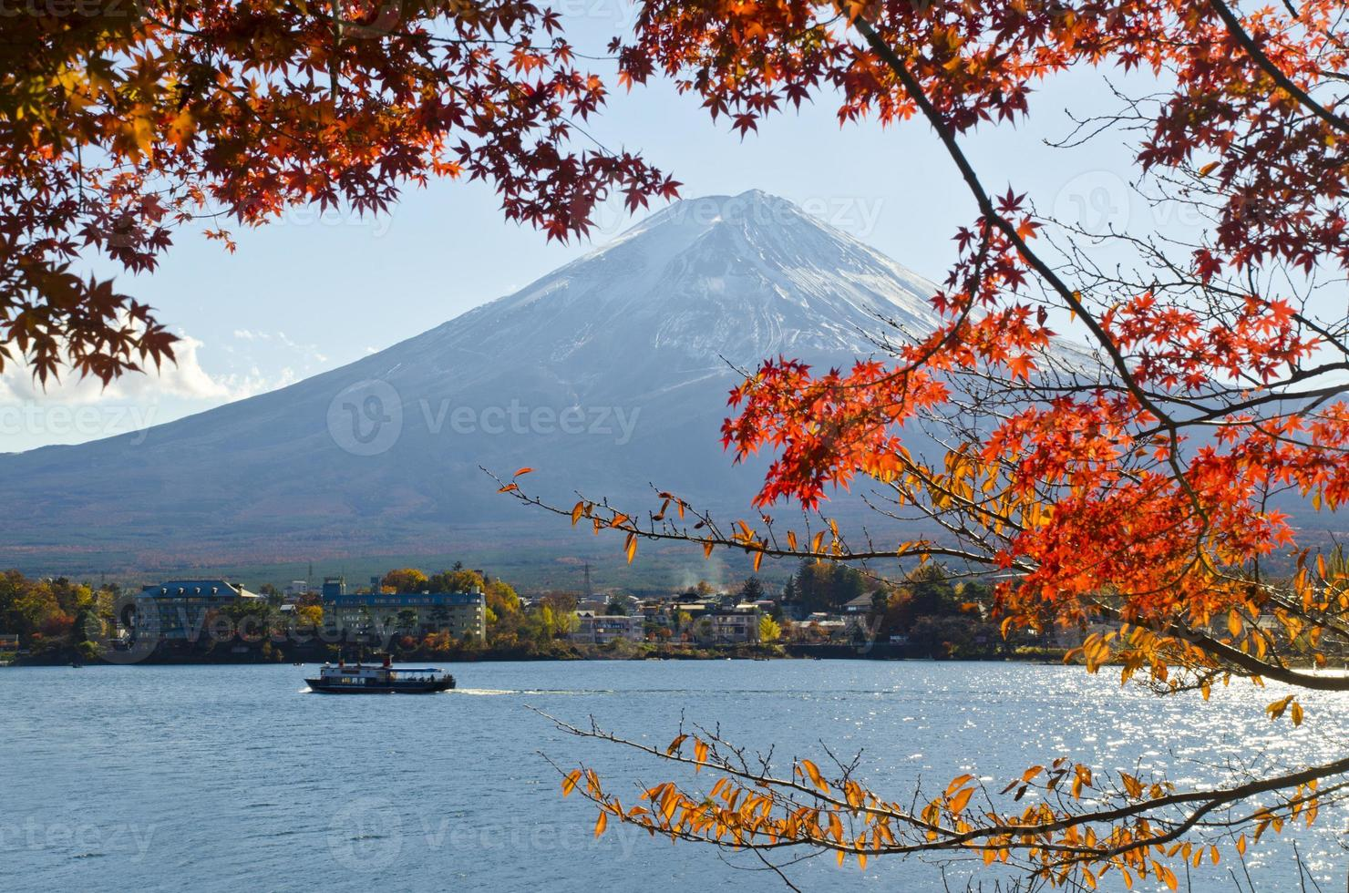 fuji en herfstseizoen foto