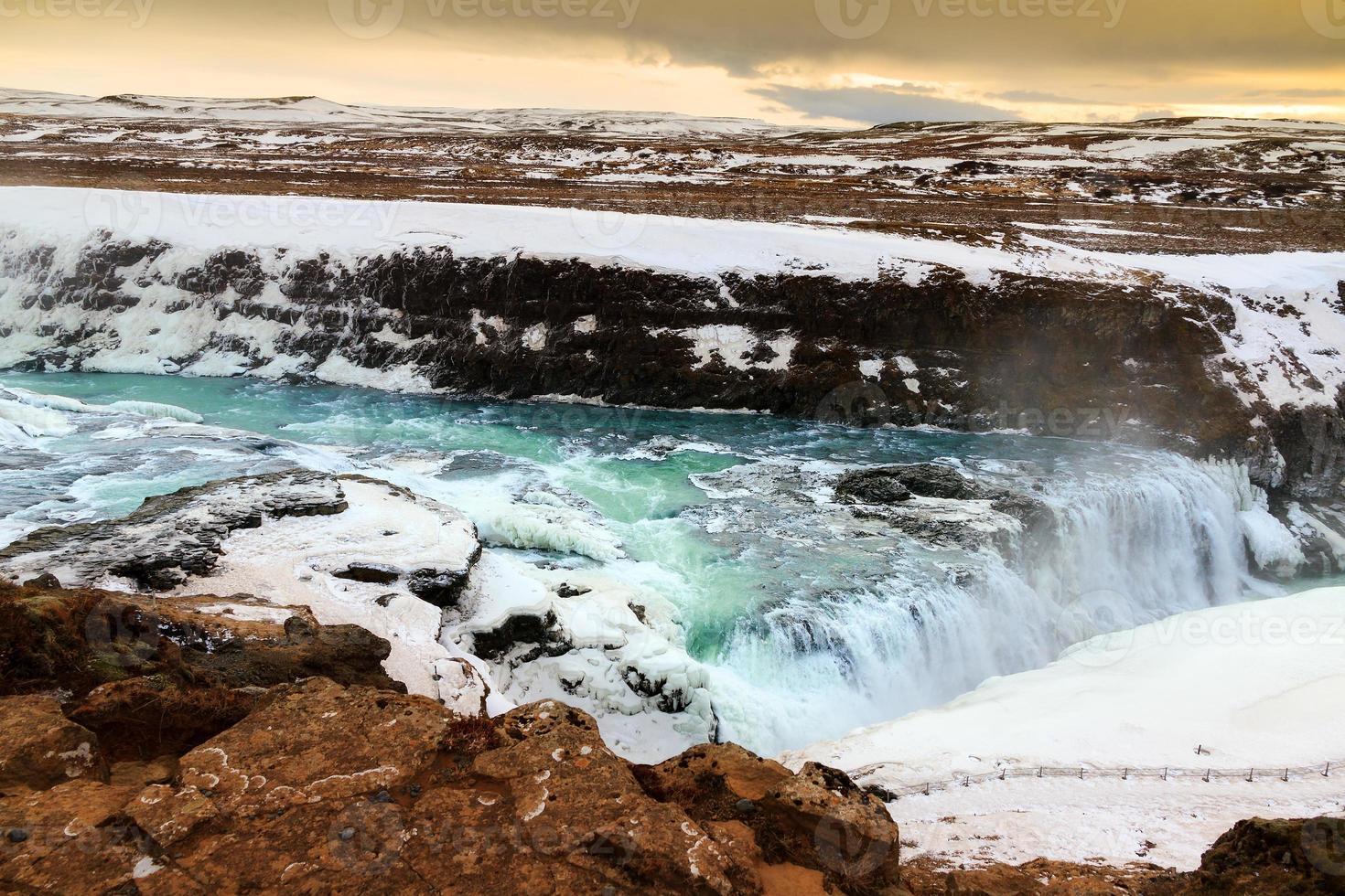 gullfoss ijsland foto