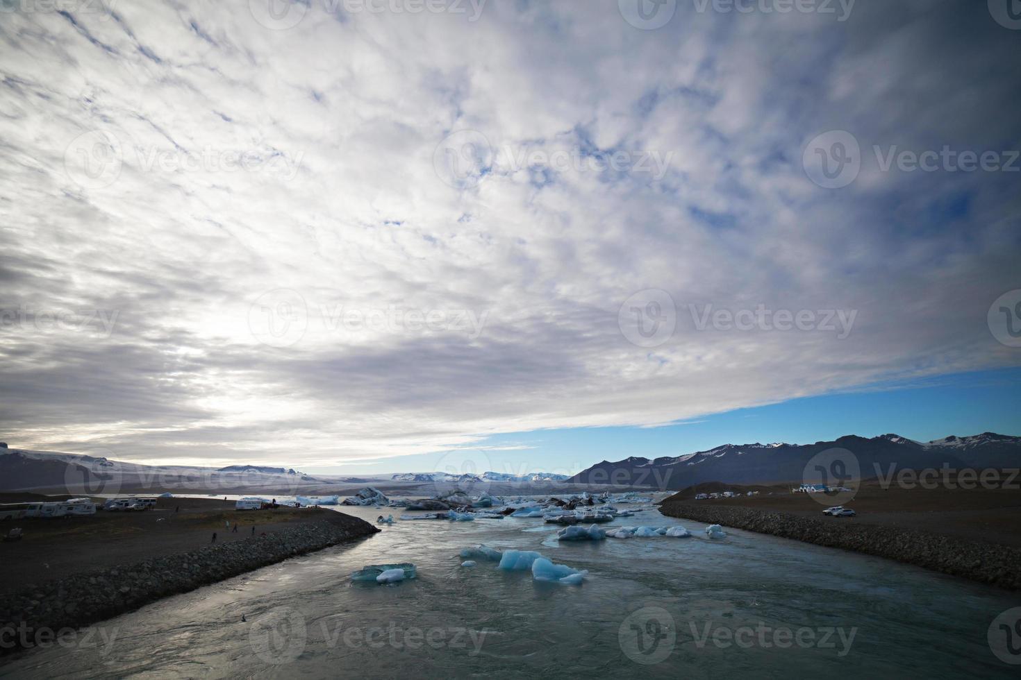 ijsberg lagune, jokulsarlon meer, ijsland foto