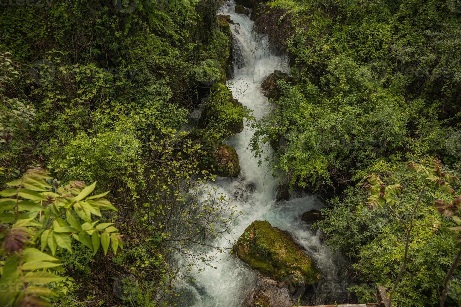 prachtige watervallen in Naoussa, Noord-Griekenland foto