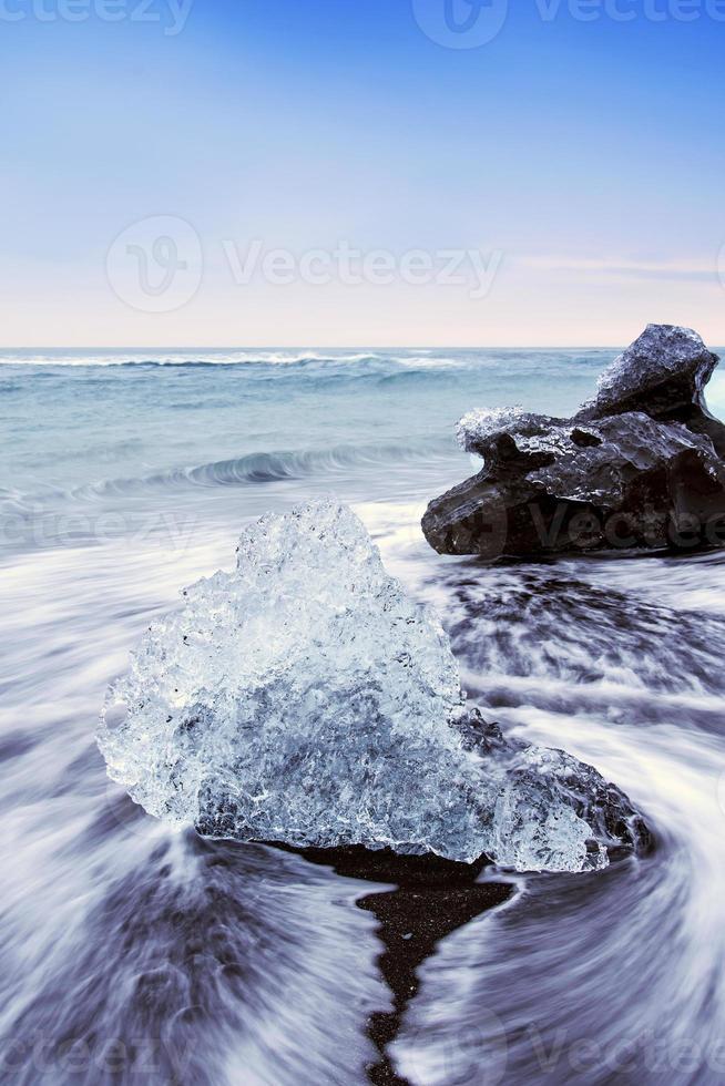 jokulsarlon ijsstrand foto