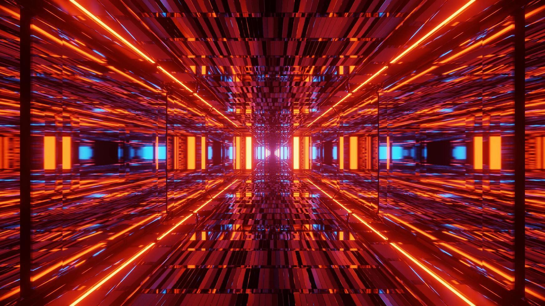 futuristische rode 3d illustratie achtergrond foto