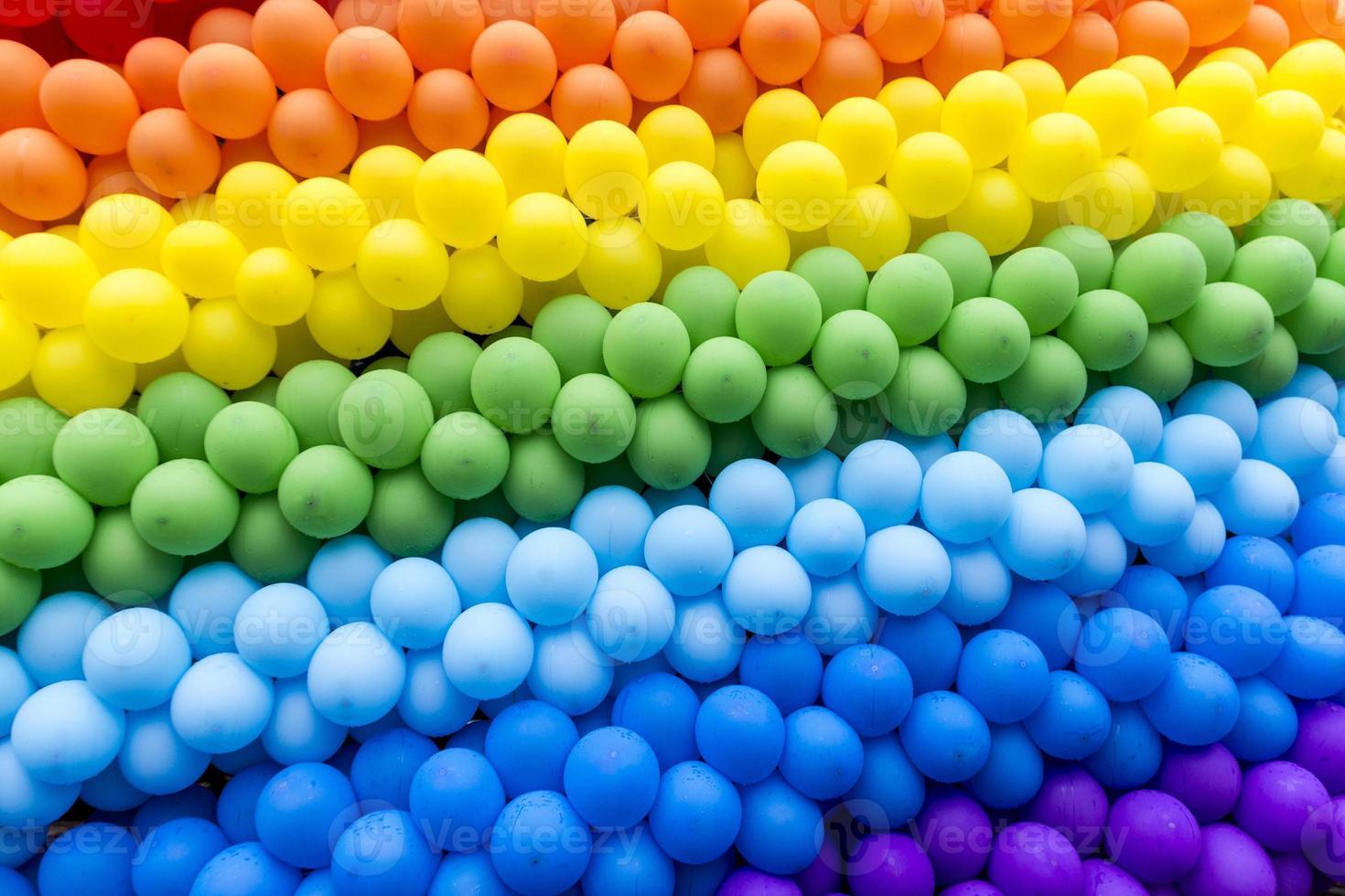felgekleurde ballonnen foto