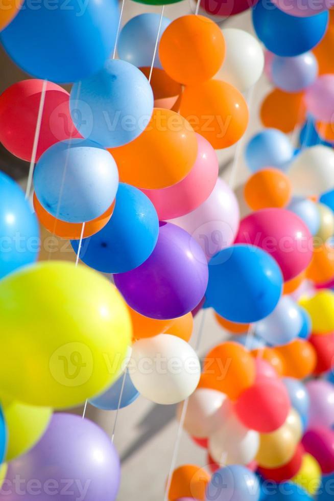 kleurrijke luchtballonnen. foto