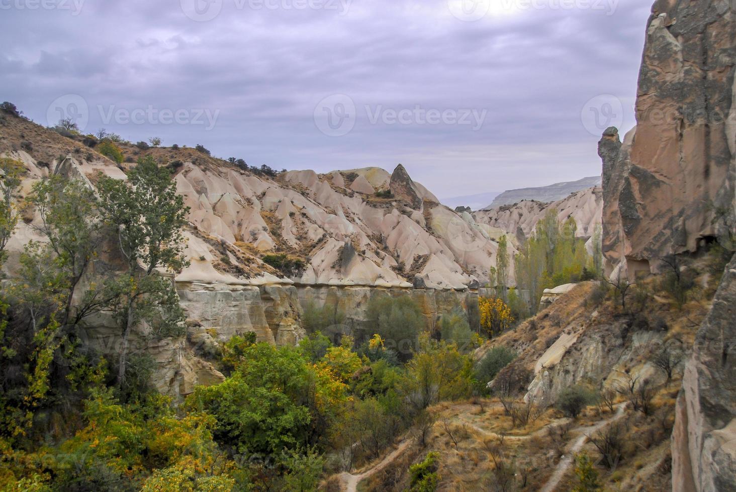 luchtmening van Cappadocië, Turkije foto