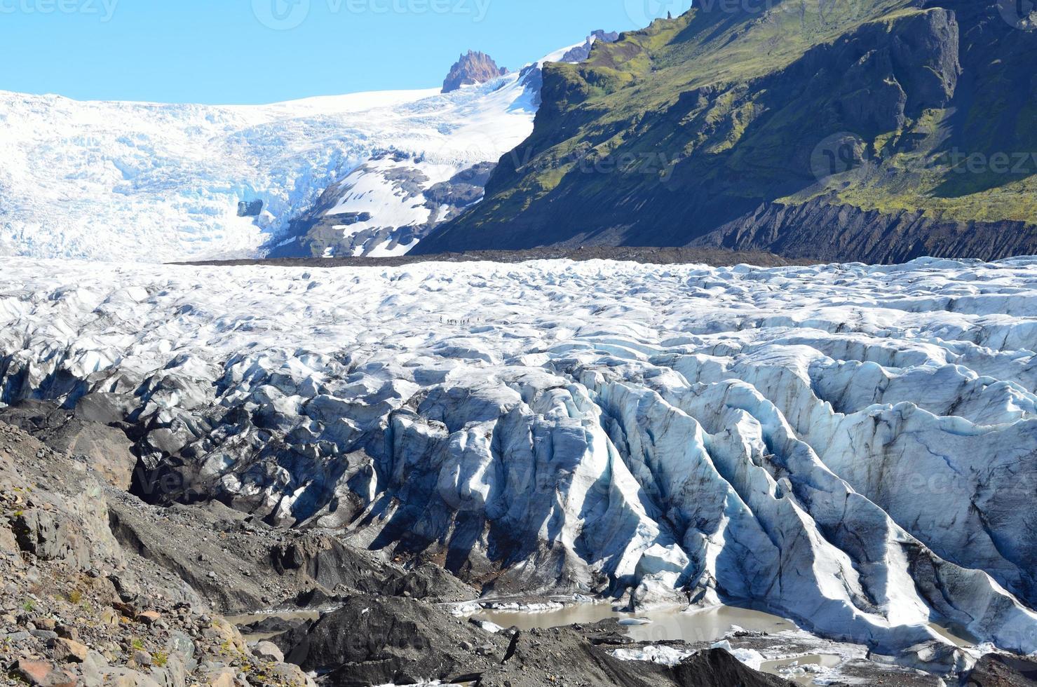 ijsland, gletsjer boven de grootste vulkaan van europa vatnaekutl foto