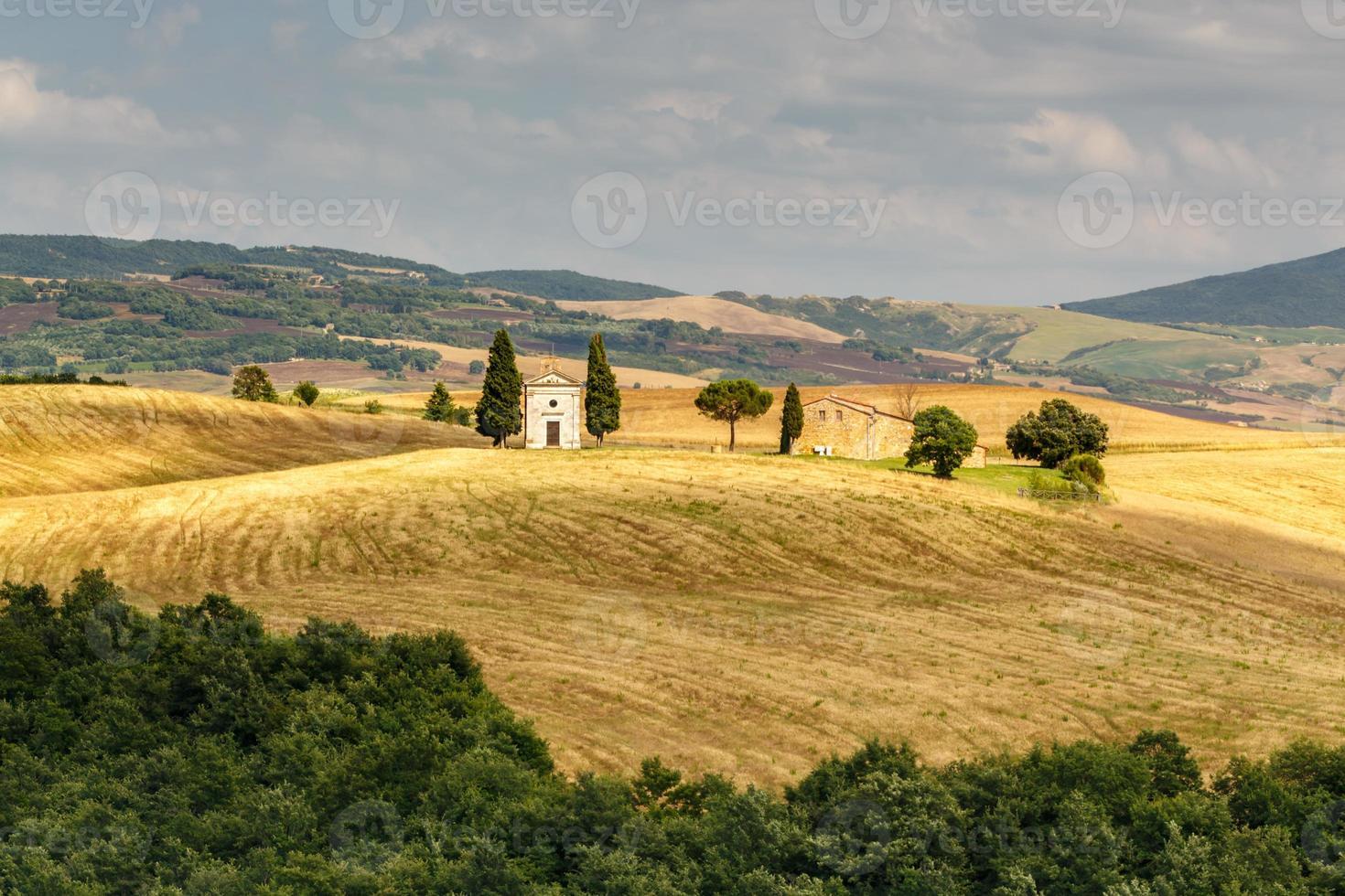 kapel in Toscane, Italië foto