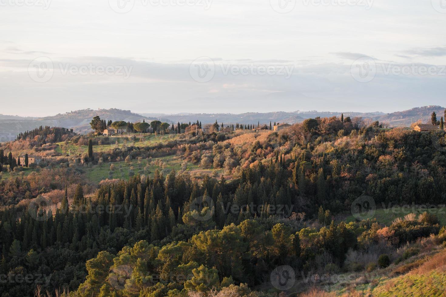 vista da castelfalfi foto