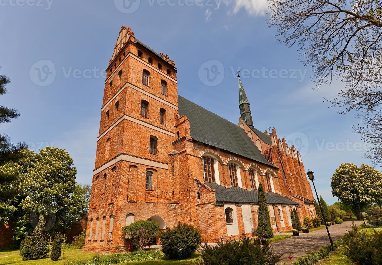 st. stanislauskerk (1521) in Swiecie Town, Polen foto