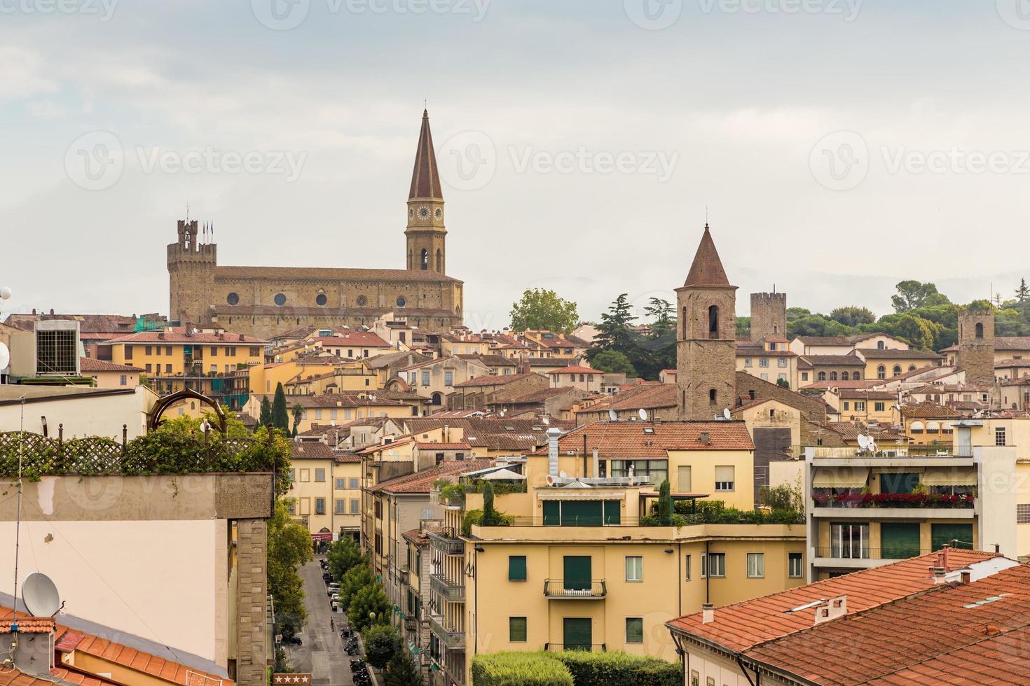 middeleeuwse stad Arezzo, Toscane, Italië foto